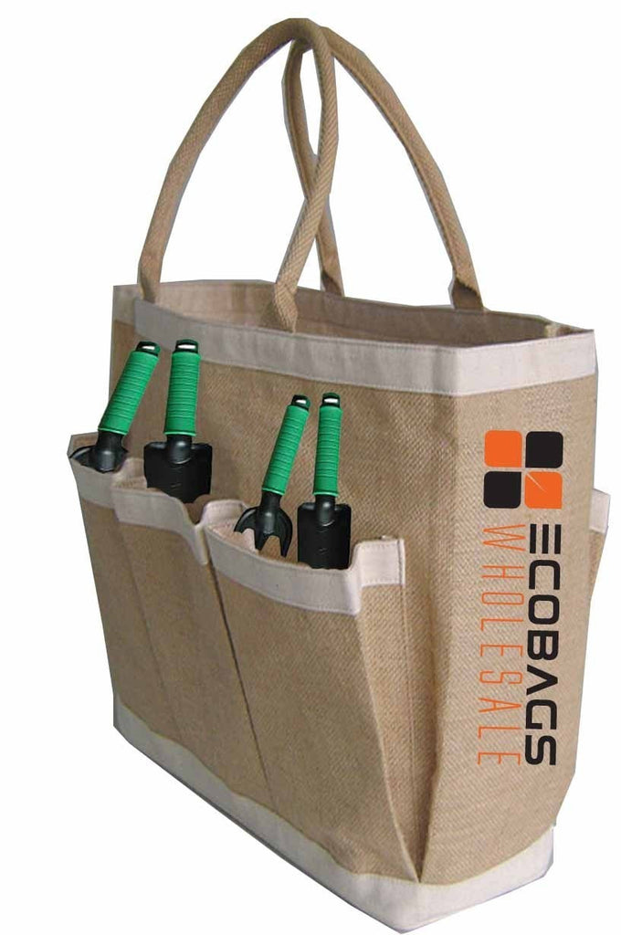 Eco Friendly Jute Garden Bag With Pockets J31