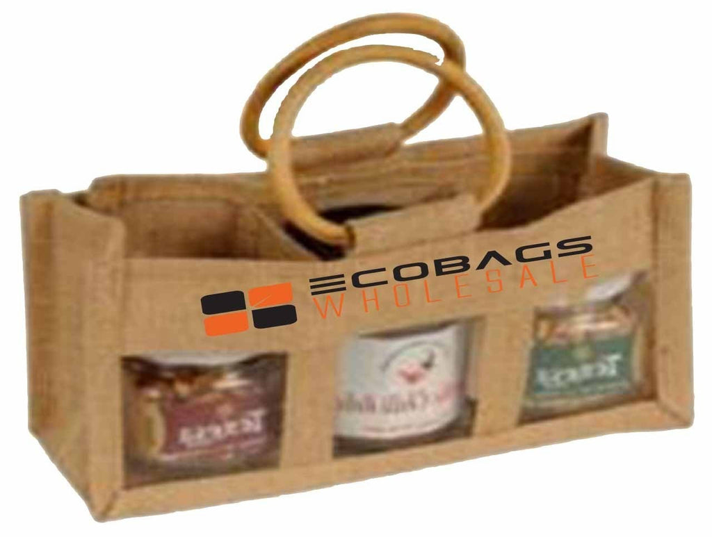 Eco Friendly Jute 3 Jar Bag J37