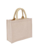 Wholesale Plain Small Premium Jute + Cotton Bag
