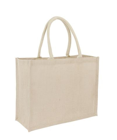 Bulk Plain Premium Jute + Cotton Landscape Bag
