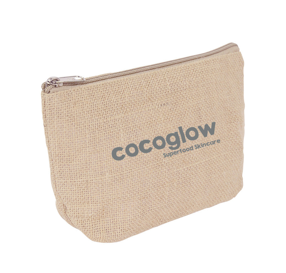 Jute Costmetic Zipper Bag