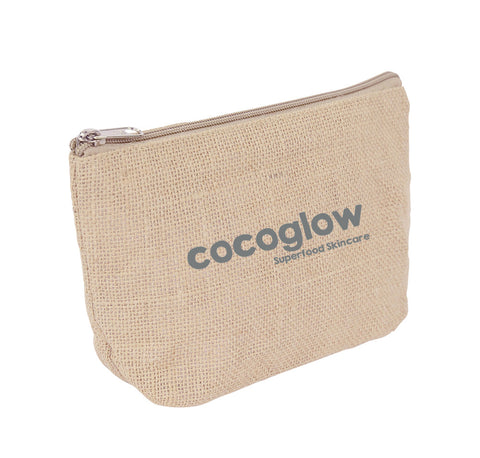 Jute Costmetic Zipper Bag JT-COS-14x21