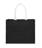 Jute Hessian Bag Laminated Landscape - Full Black Plain Bag