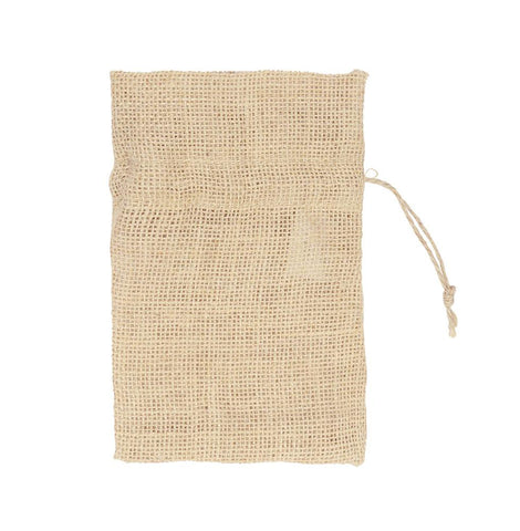 Jute Small Pouch Toggle  Plain