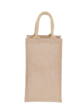 Jute Hessian Wine Bag X 2 Bottle