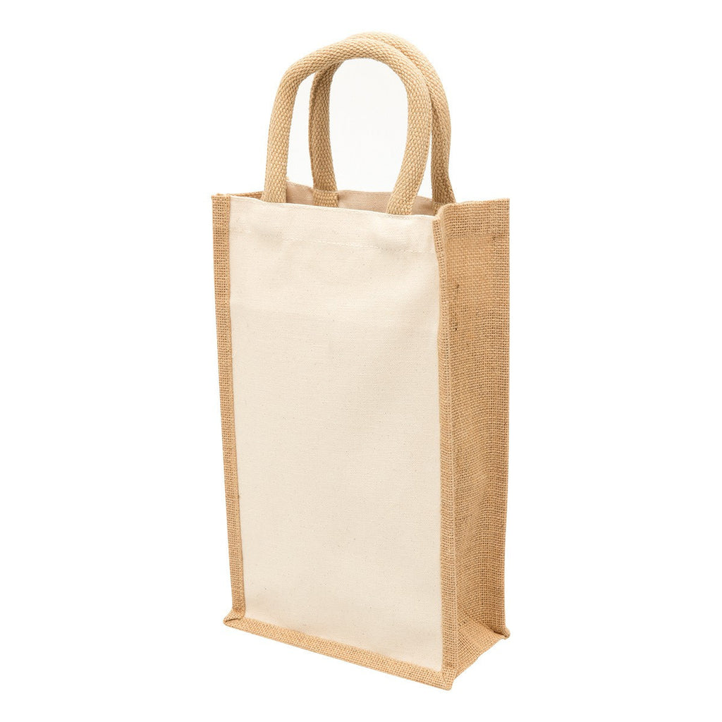 Jute 2 Bottle Wine Bags