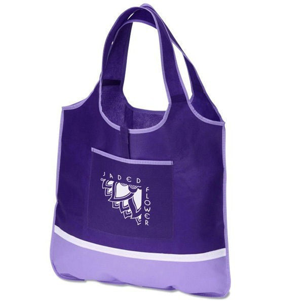 Non Woven PP Boutique Custom Friendly Bag  -With Front Pocket NW216