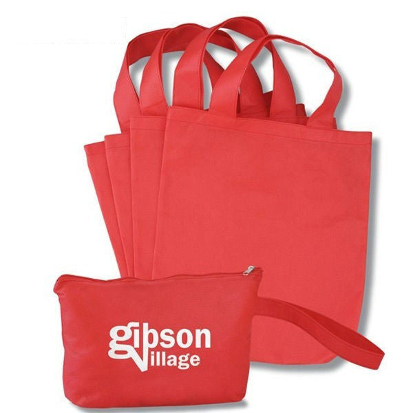 Non Woven PP Cosmetic Fabric Bags  -With Handle NW219