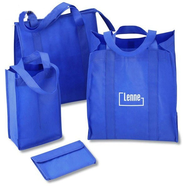 Non Woven PP Foldable Customized Bag  -With Velcro NW221