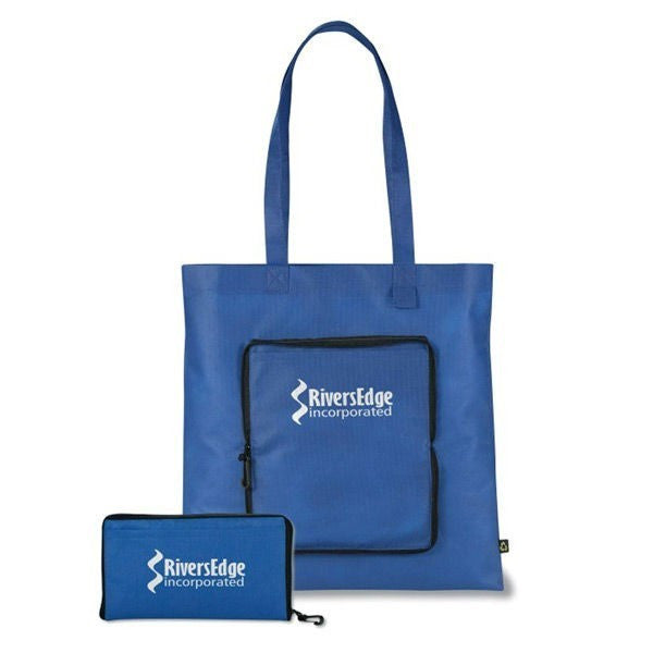 Non Woven PP Foldable Eco Friendly Tote Bags  -With Zip and Clip NW222