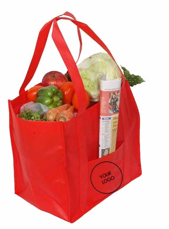 Non Woven Grocery Bag With Pocket : Standard NWG108
