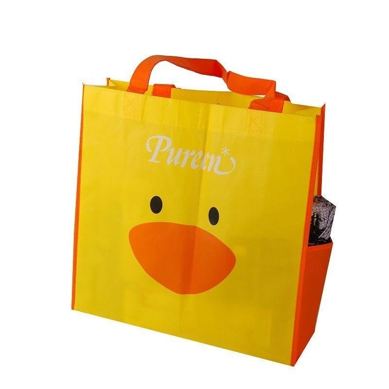 Non Woven Laminated - Multipurpose gusset Tote  -Side Pocket NWL124