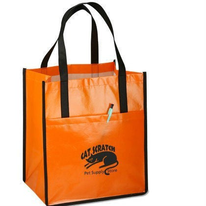 Non Woven Laminated - Grocery Bags Printed -Front Pocket NWL142