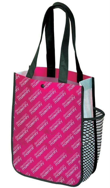 Non Woven Laminated - Tradeshow Bags Printed With Logo  -Side Pocket NWL144