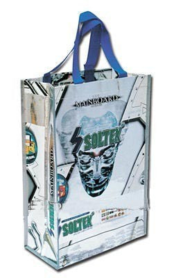 Non Woven Laminated - Tradeshow Bags Printed With Logo  -Blue Handle NWL145