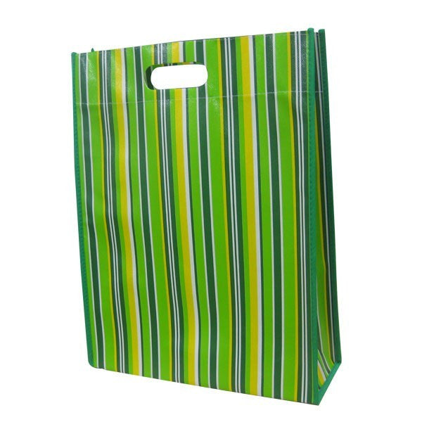 Non Woven Laminated - Multipurpose gusset Recycling Bag  -D cut Handle NWL152