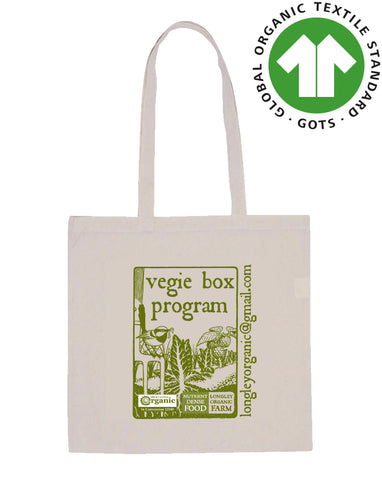 Organic Cotton Bag - Flat