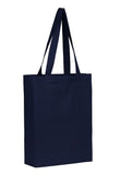 Cotton Tote With Base Gusset Only - Navy - Plain Bag