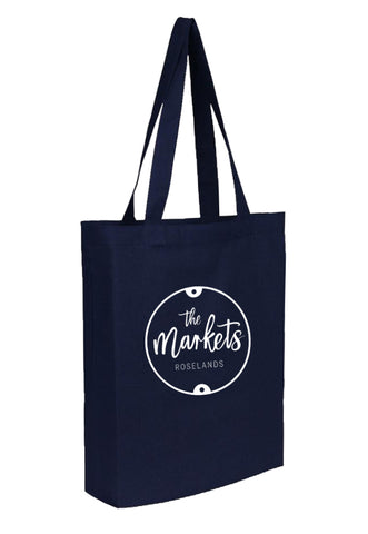 Cotton Tote With Base Gusset Only - Navy - CTN-TT-NV-BTM