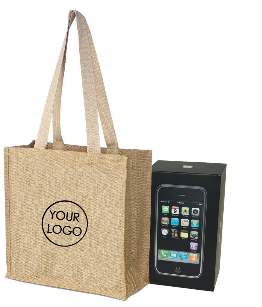 Promotional Jute Bag With Long Handle - A4