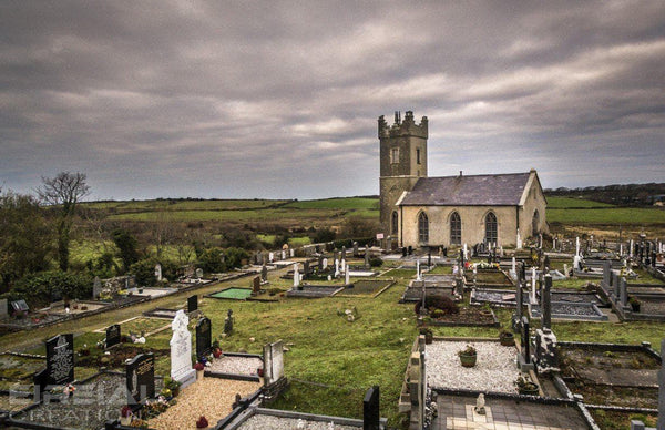 Ahamlish Church of Ireland, Grange, County Sligo - Digital Download - Aerial Creations - Amazing Aerial Photography of Ireland.