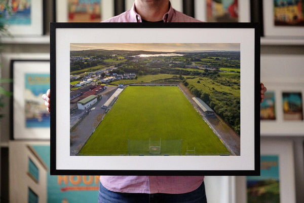 Framed Print of Aodh Ruadh GAA Club, Ballyshannon - Aerial Creations - Amazing Aerial Photography of Ireland.