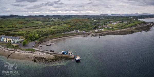 A Panoramic shot of, Ardaghey, Inver, County Donegal - Digital Download - Aerial Creations - Amazing Aerial Photography of Ireland.