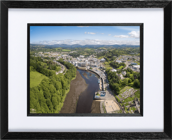 53cm x 44cm Framed Print of Donegal Town, Donegal. - Aerial Creations - Amazing Aerial Photography of Ireland.