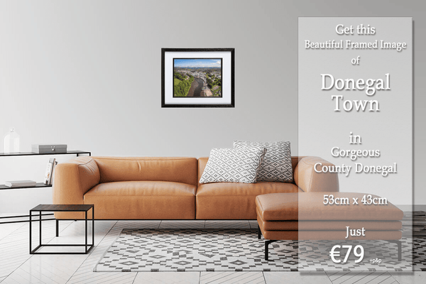 53cm x 44cm Framed Print of Donegal Town, Donegal. - Eireial Creations - Drone Operator - Aerial Photography Ireland