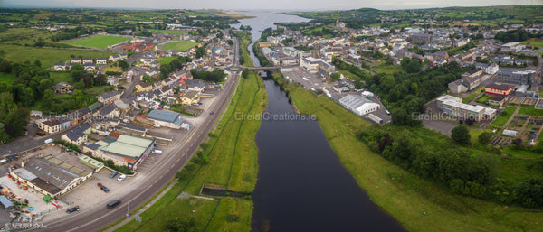 An aerial shot of Ballyshannon, Donegal. - Digital Download - Eireial Creations - Drone Operator - Aerial Photography Ireland