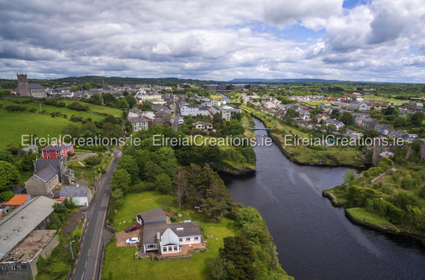 The town of Ballyshannon, Co. Donegal - Digital Download - Aerial Creations - Amazing Aerial Photography of Ireland.