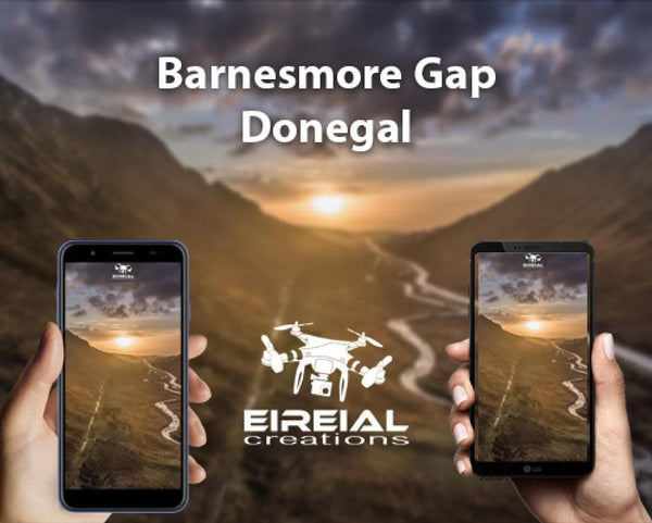 Free Wallpaper! Barnesmore Gap Sunset. - Eireial Creations - Drone Operator - Aerial Photography Ireland