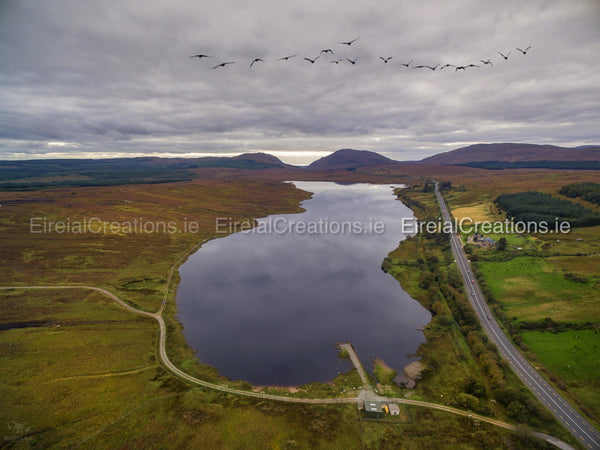 Barnesmore Gap with Lough Mourne - Digital Download. - Eireial Creations - Drone Operator - Aerial Photography Ireland