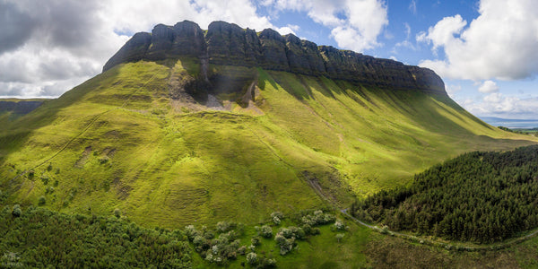 A Panoramic shot of The Mighty Benbulben, Co. Sligo - Digital Download - Aerial Creations - Amazing Aerial Photography of Ireland.