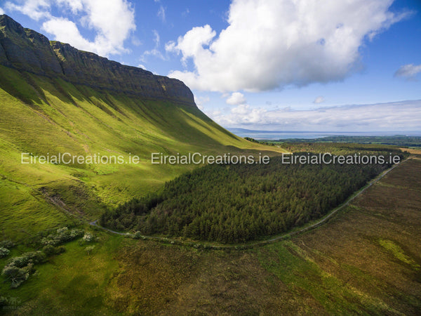 The Mighty Benbulben with ocean view, Co. Sligo - Digital Download - Aerial Creations - Amazing Aerial Photography of Ireland.