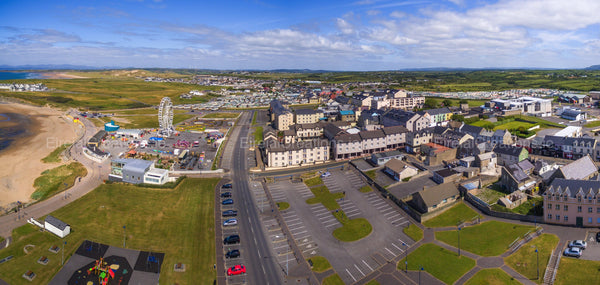 An aerial shot of Bundoran Town and Tullan beach, County Donegal - Photo Print - Aerial Creations - Amazing Aerial Photography of Ireland.