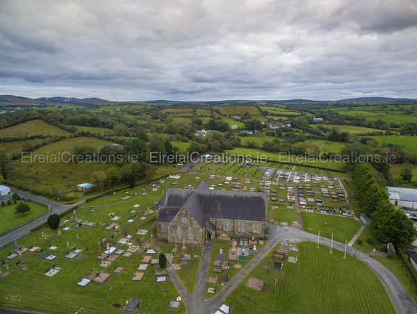 Church of St. Agatha, Clar, Donegal Town, County Donegal 02 - Digital Download. - Eireial Creations - Drone Operator - Aerial Photography Ireland