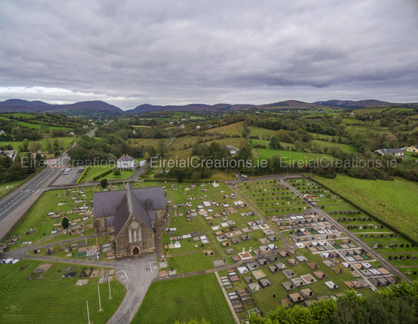 Church of St. Agatha, Clar, Donegal Town, County Donegal 03 - Digital Download. - Eireial Creations - Drone Operator - Aerial Photography Ireland
