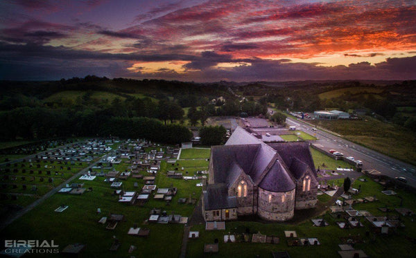 Church of St. Agatha, Clar, Donegal Town, County Donegal. - Photo Print - Aerial Creations - Amazing Aerial Photography of Ireland.
