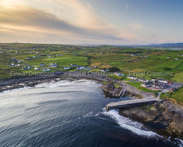 A shot of the gorgeous Creevy Pier, Donegal - Digital Download - Aerial Creations - Amazing Aerial Photography of Ireland.