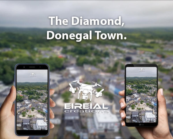 Free Wallpaper! The Diamond, Donegal Town, Donegal. - Eireial Creations - Drone Operator - Aerial Photography Ireland