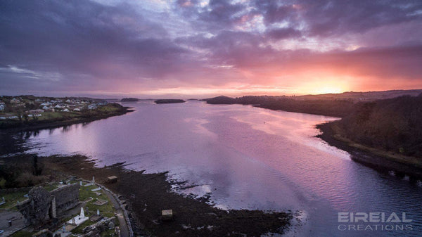 A Donegal Bay sunset in March - Digital Download - Eireial Creations - Drone Operator - Aerial Photography Ireland