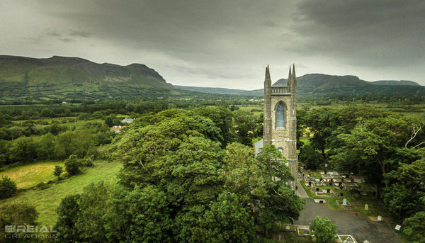 Saint Columba's Church of Ireland, Drumcliff, County Sligo. - Digital Download. - Aerial Creations - Amazing Aerial Photography of Ireland.