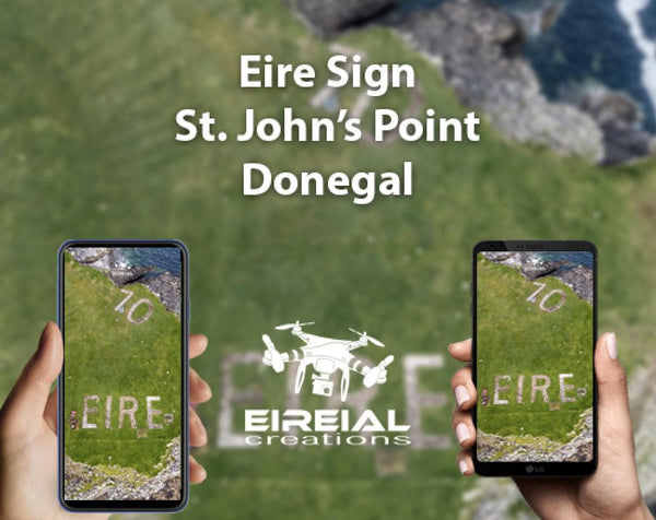 Free Wallpaper! Eire sign at St. John's Point, Donegal. - Aerial Creations - Amazing Aerial Photography of Ireland.