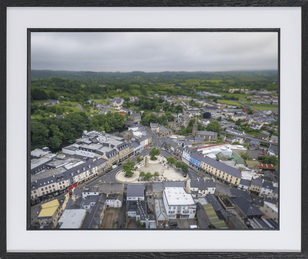 60cm x 50cm Framed Print of Donegal Town, Donegal. - Aerial Creations - Amazing Aerial Photography of Ireland.