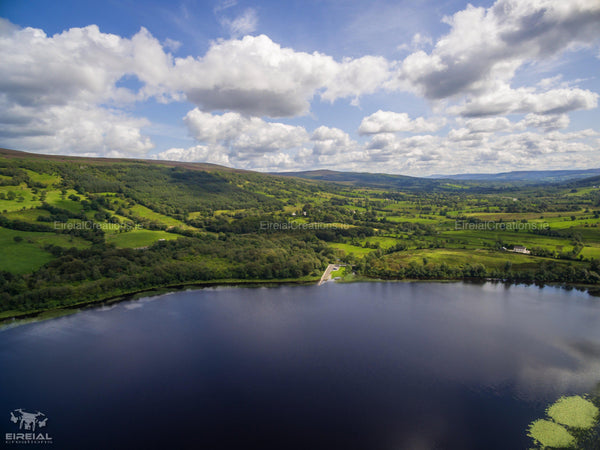 A shot of the Pier at Glenade Lough, County Leitrim. - Digital Download - Eireial Creations - Drone Operator - Aerial Photography Ireland
