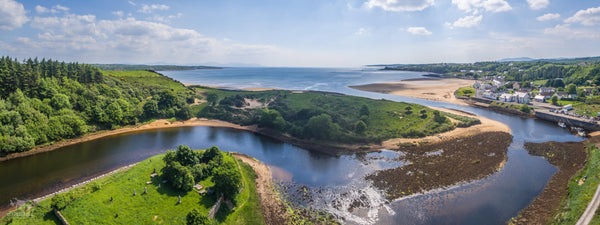 A Panoramic shot of Inver, County Donegal - Digital Download - Aerial Creations - Amazing Aerial Photography of Ireland.