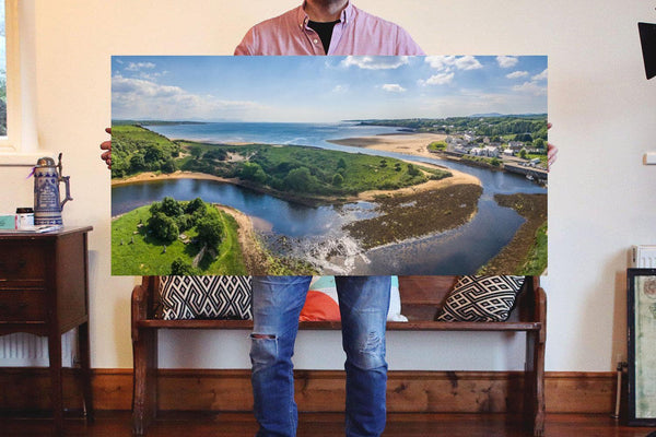 A shot of Inver, Donegal on Canvas - Aerial Creations - Amazing Aerial Photography of Ireland.