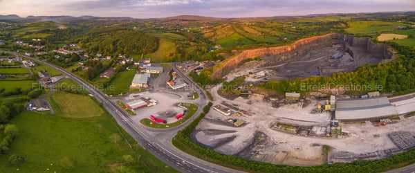 Panoramic shot of Laghy, County Donegal - Photo Print - Aerial Creations - Amazing Aerial Photography of Ireland.