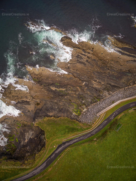 A shot of the Coastline at Mullaghmore, County Sligo, Ireland - Photo Print - Aerial Creations - Amazing Aerial Photography of Ireland.